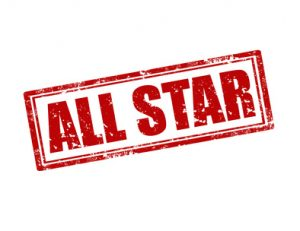 """ALL STAR"" in red lettering"