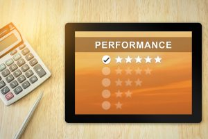 five-star performance review graphic