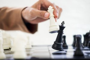 white king capturing black king in a chess game